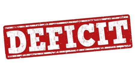 deficit: Deficit grunge rubber stamp on white background, vector illustration