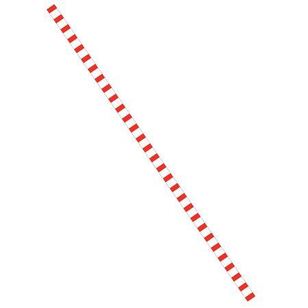 Rood gestreepte papier stro op een witte achtergrond, vector illustratie