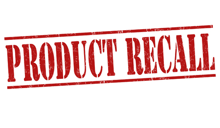 flaw: Product recall grunge rubber stamp on white background, vector illustration Illustration