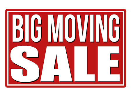 advertising signs: Big moving sale red sign isolated on a white background, vector illustration Illustration