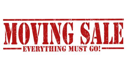 Moving sale grunge rubber stamp on white background, vector illustration Ilustração Vetorial