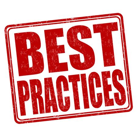 Best practices grunge rubber stamp on white background, vector illustration Illustration