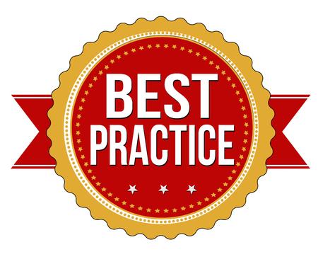 Best-Practice-Grunge-Stempel auf weißem Hintergrund, Vektor-Illustration