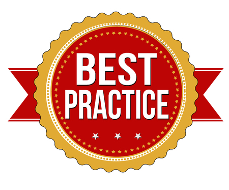 Best practice grunge rubber stamp on white background, vector illustration Illustration