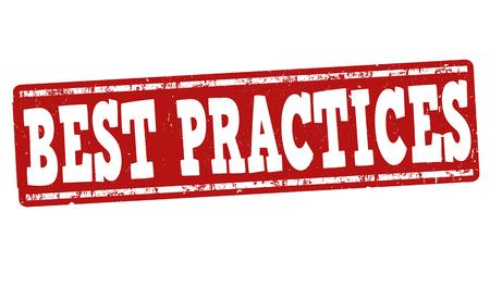 best background: Best practices grunge rubber stamp on white background, vector illustration Illustration