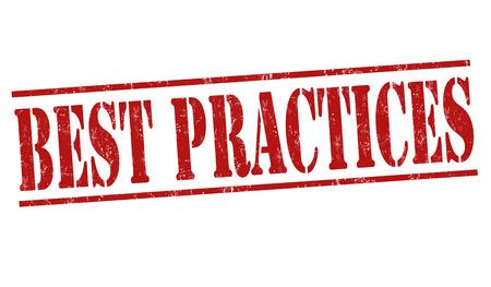 Best Practices Stempel auf weißem Hintergrund Grunge, Vektor-Illustration