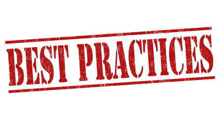 best: Best practices grunge rubber stamp on white background, vector illustration Illustration
