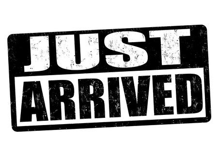 just arrived: Just arrived grunge rubber stamp on white background, vector illustration