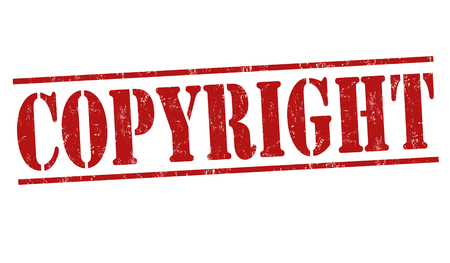 copyrighted: Copyyright grunge rubber stamp on white background, vector illustration