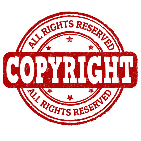 plagiarism: Copyyright grunge rubber stamp on white background, vector illustration