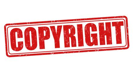 plagiarism: Copyyright grunge rubber stamp on white background, vector illustration