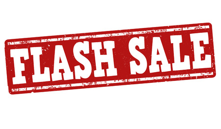 flashes: Flash sale grunge rubber stamp on white background, vector illustration Stock Photo