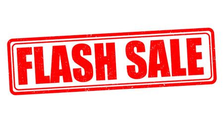 Flash sale grunge rubber stamp on white background, vector illustration 版權商用圖片