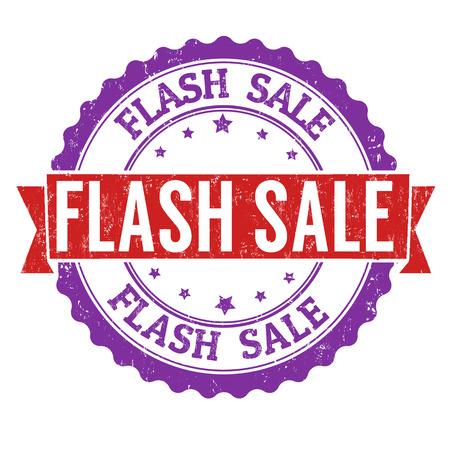 Flash-Verkauf Grunge-Stempel auf weißem Hintergrund, Vektor-Illustration