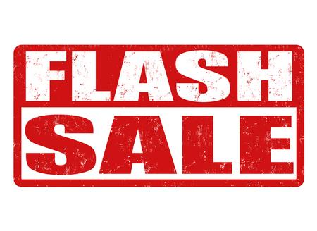 flashes: Flash sale grunge rubber stamp on white background, vector illustration Illustration