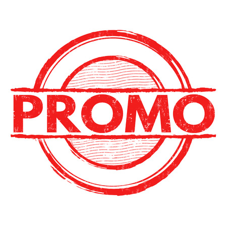 promoter: Promo grunge rubber stamp on white background, vector illustration Illustration