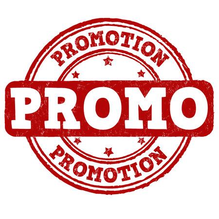 promo: Promo grunge rubber stamp on white background, vector illustration Illustration