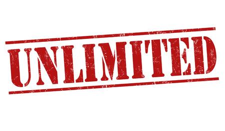 unlimited: Unlimited grunge rubber stamp on white background, vector illustration