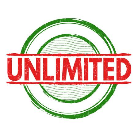 Unlimited grunge rubber stamp on white background, vector illustration