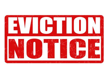 Eviction notice grunge rubber stamp on white background, vector illustration