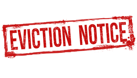 recourse: Eviction notice grunge rubber stamp on white background, vector illustration