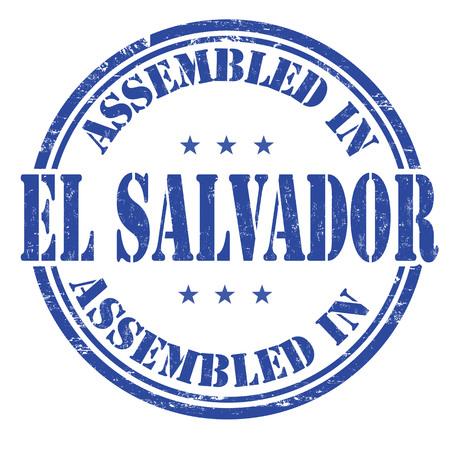 assembled: Assembled in El Salvador grunge rubber stamp on white background, vector illustration Illustration
