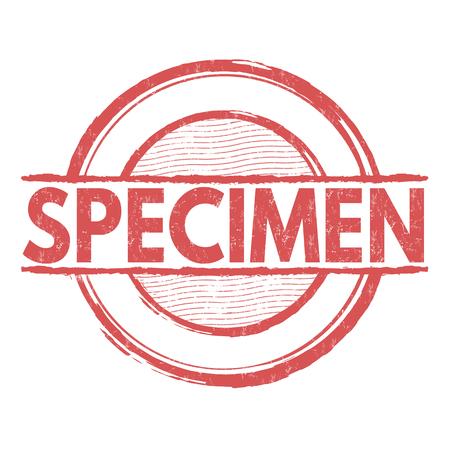 specimen: Specimen grunge rubber stamp on white background, vector illustration