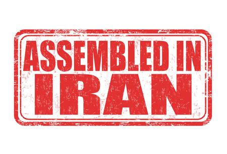assembled: Assembled in Iran grunge rubber stamp on white background, vector illustration Illustration