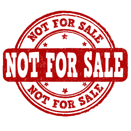 Not for sale grunge rubber stamp on white background, vector illustration Фото со стока - 59196458