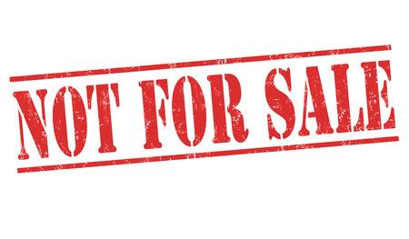 Not for sale grunge rubber stamp on white background, vector illustration