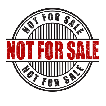 annotation: Not for sale grunge rubber stamp on white background, vector illustration