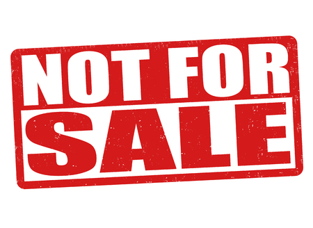 No para la venta grunge sello de goma en el fondo blanco, ilustración vectorial Ilustración de vector