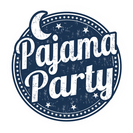 Pajama party grunge rubber stamp on white background, vector illustration Banco de Imagens - 59196467