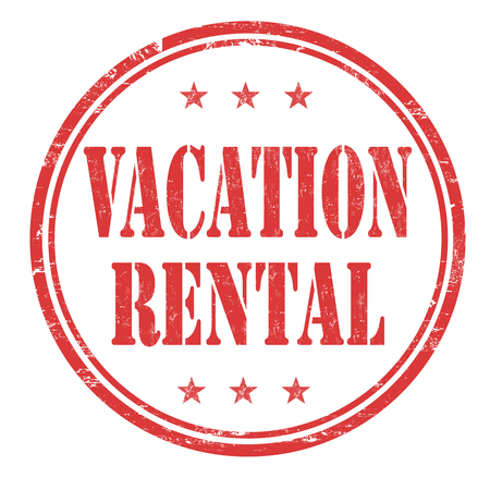 holidays vacancy: Vacation rental grunge rubber stamp on white background, vector illustration