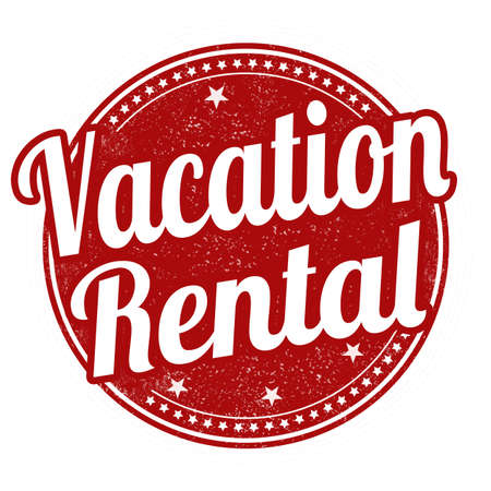 furlough: Vacation rental grunge rubber stamp on white background, vector illustration
