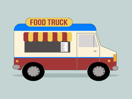 catering food: Vector illustration of food truck