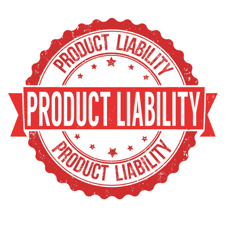 Product liability grunge rubber stamp on white background, vector illustration 向量圖像