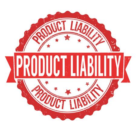 Produkthaftung Grunge-Stempel auf weißem Hintergrund, Vektor-Illustration