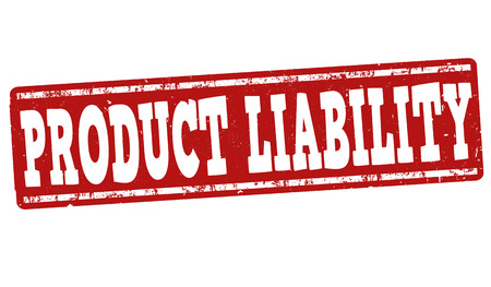 compulsory: Product liability grunge rubber stamp on white background, vector illustration Illustration