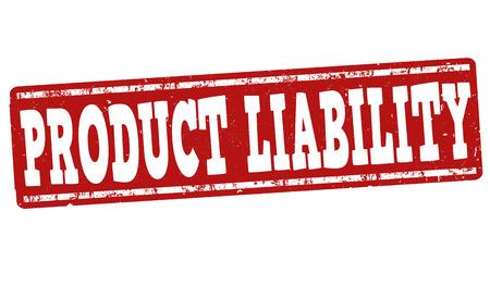 Productaansprakelijkheid grunge rubber stempel op een witte achtergrond, vector illustratie