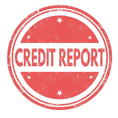 credit report: Credit report grunge rubber stamp on white background, vector illustration Illustration