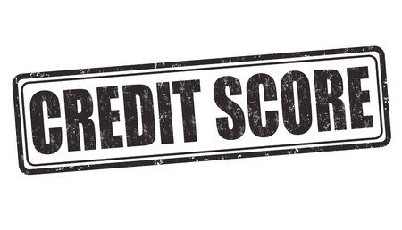 grungy header: Credit score grunge rubber stamp on white background, vector illustration