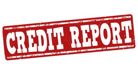 grungy header: Credit report grunge rubber stamp on white background, vector illustration Illustration