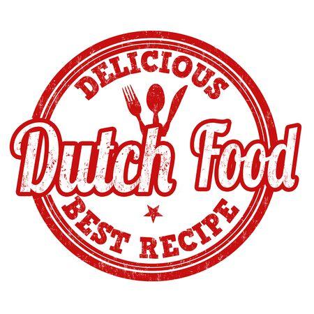 dutch: Dutch food grunge rubber stamp on white background, vector illustration