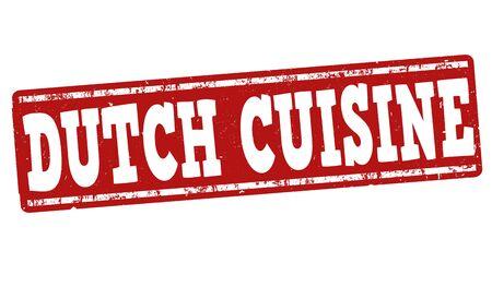 dutch: Dutch cuisine grunge rubber stamp on white background, vector illustration Illustration