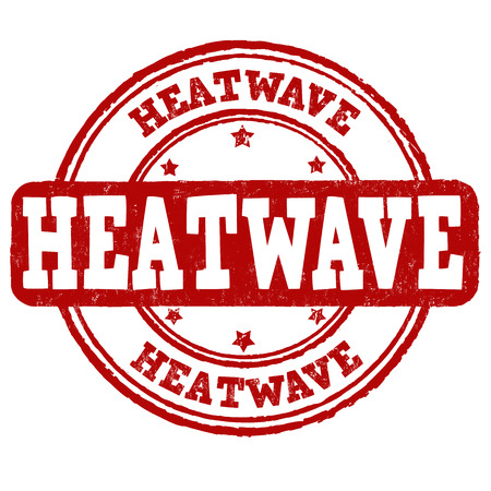 summery: Heatwave grunge rubber stamp on white background, vector illustration Illustration
