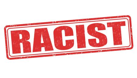 stereotypical: Racist grunge rubber stamp on white background, vector illustration Illustration