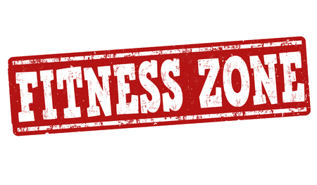 athletic type: Fitness zone grunge rubber stamp on white background, vector illustration