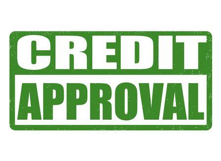 loan: Credit approval grunge rubber stamp on white background, vector illustration Illustration
