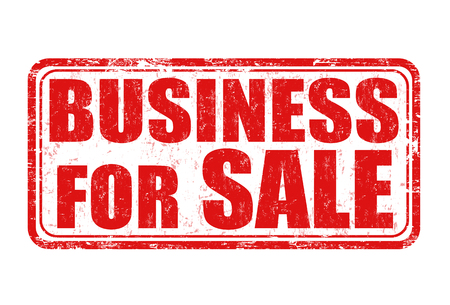 promising: Business for sale red grunge rubber stamp on white background, vector illustration